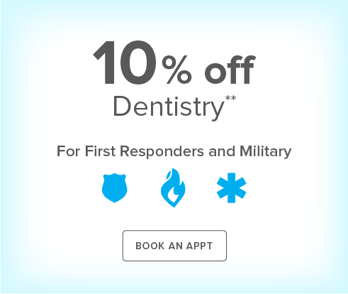 First Responders and Military Discount - Tomball Smiles Dentistry